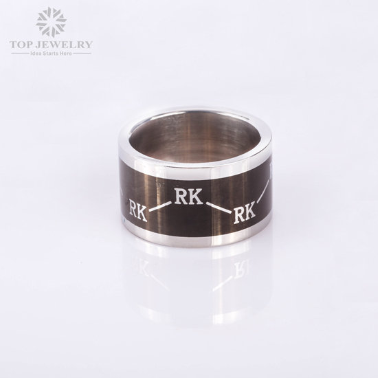 Redken Customized Stainless Steel Unique Mens Wedding Bands For REDKEN Brand TRI 0005