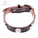 Fashionable Leather Bracelet Jewelry for Men with Neat Simple Design TBR-0043