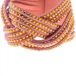Fashion Leather Bracelet Cord Wholesale with Crystal TBR-0044
