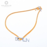 High Polished Wax Cord bracelet with Alloy Letters Charm Both Suitable for Men and Women