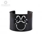 Disney Mickey Mouse Black Cuff Bangle Bracelet for Children and Adults TBR-0008
