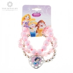 Disney Princess Multi Color Beads Stretch Bracelet for Promotion TNK-0015