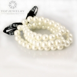 Make Up Factory Trendy Delicate Elastic Pearls Bracelet for Lady TBR-0057
