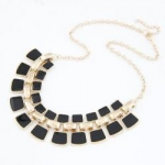 High quality fashion choker necklace with square charm enamel necklace TNK-0044
