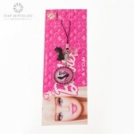 Barble Crystal Personalized Key Chains AVON Barbie Plastic Butterfly Bow and Round TKC-0003