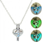 Mother's Day Necklace Mom Three-color Nightlight Pendant Short Clavicle Chain