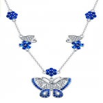 New Necklace female European and American fashion personality exaggerated butterfly dance platinum plated zircon COPPER NECKLACE