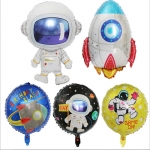 Sci-Fi Theme Birthday Decoration Cartoon Astronaut Aluminium Foil Balloon