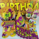 Cartoon Dinosaur Theme Party Set Children's Birthday Party Decoration Scene Layout Projects