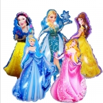 Princess Aluminum Film Balloon Mall Decoration Goods Children Princess Theme Party Decorative Balloon