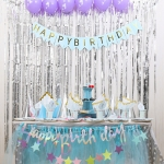 Children's Birthday Party Suit Silver Mermaid Girl Baby Theme Children's Party Supplies