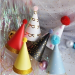 INS Big Hair Ball Birthday Party Hat Decoration Headwear Festival Dress